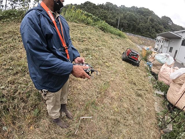 ラジコン草刈機 コントローラー