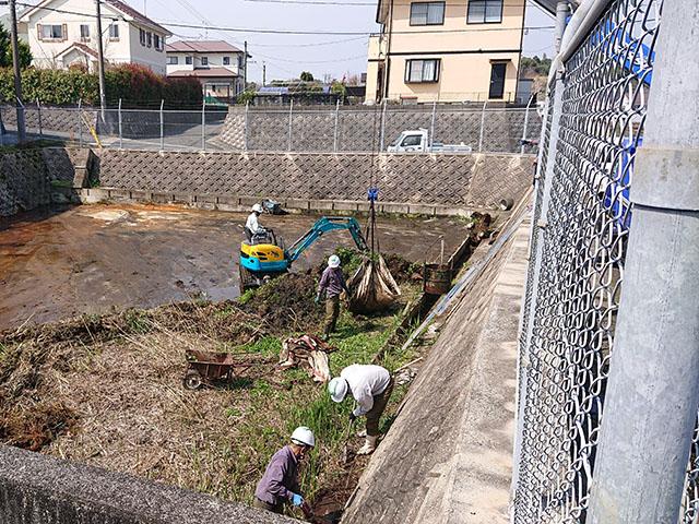 調整池 清掃工事